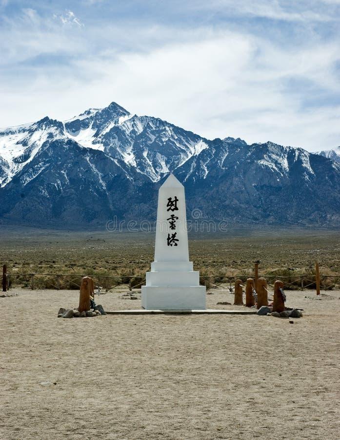 Monument de Manzanar image libre de droits