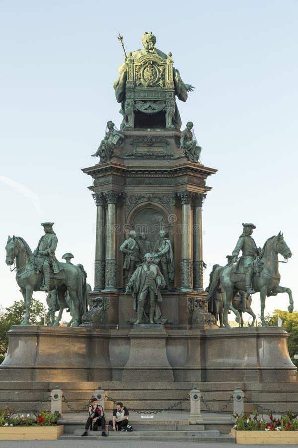 Monument de Maria Theresa à Vienne images libres de droits