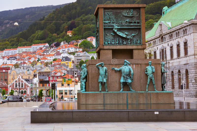 Monument de marins - Bergen Norway photographie stock