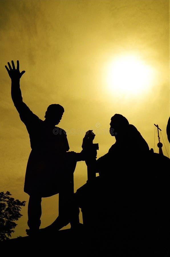 Download Monument De Minin Et De Pozharsky, Moscou Image stock - Image du silhouette, vacances: 91295