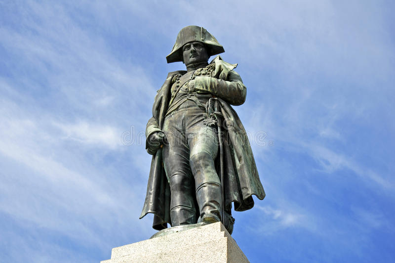 Monument de napoléon en Corse image libre de droits