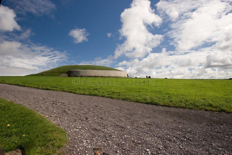 Monument de Newgrange. photo stock