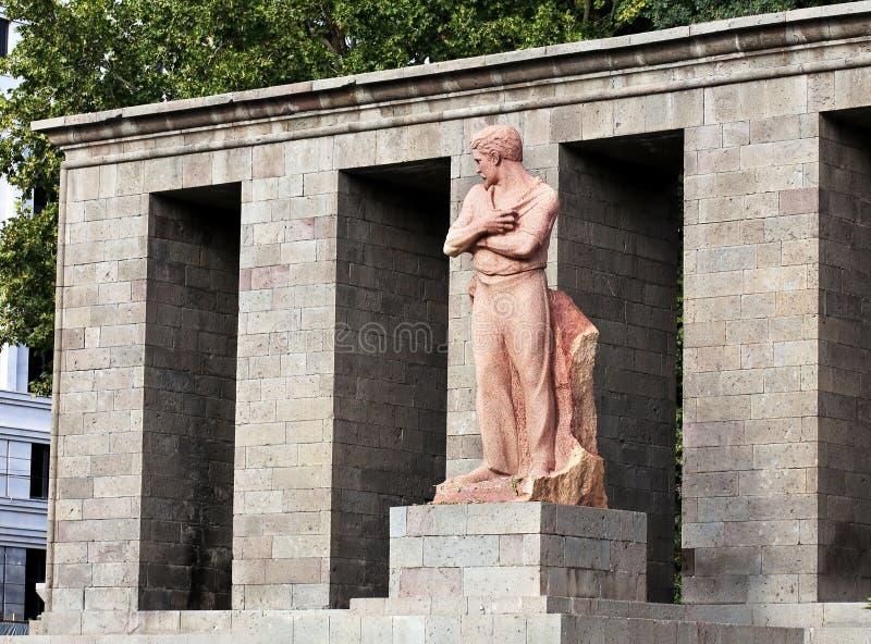 Monument de pierre rose images libres de droits