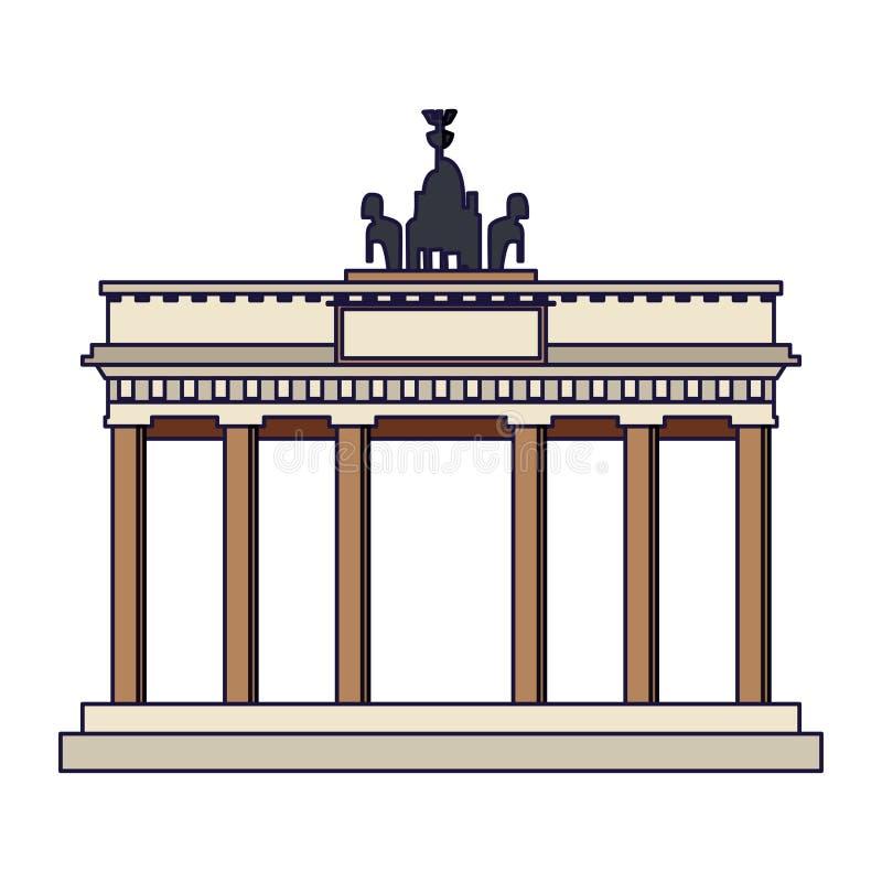 Monument de PORTE DE BRANDEBOURG illustration de vecteur