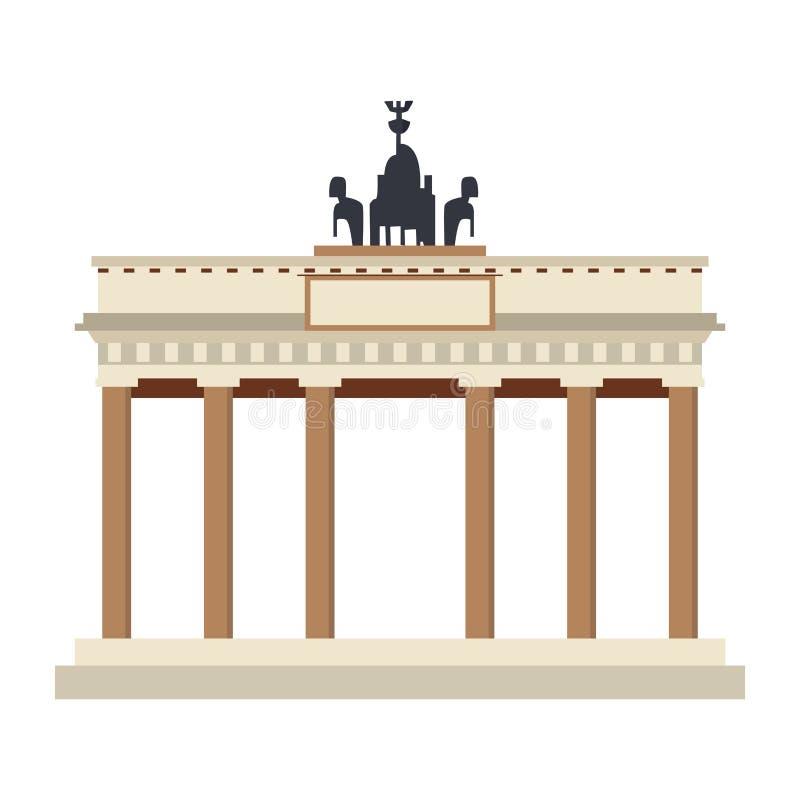 Monument de PORTE DE BRANDEBOURG illustration stock