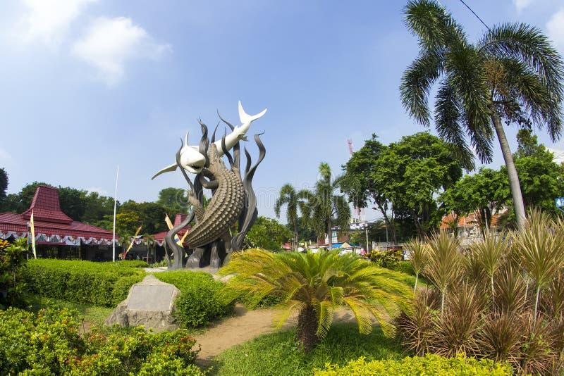 Monument de Sorabaya images libres de droits