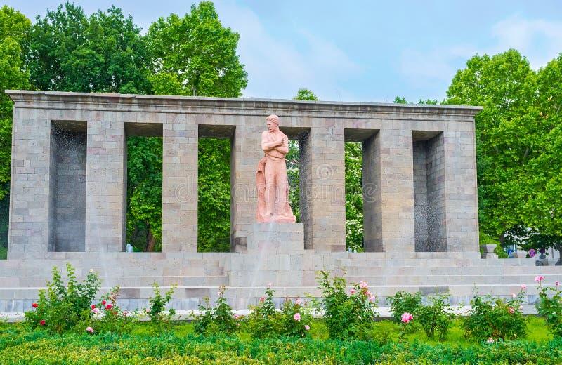 Monument de Stepan Shahumyan photographie stock