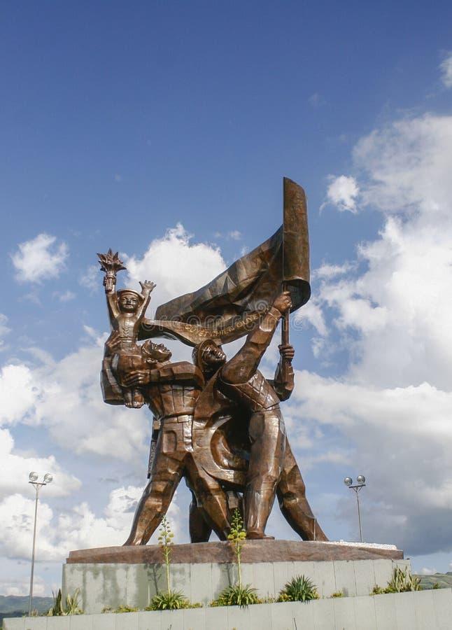 Monument de victoire chez Dien Bien Phu photographie stock