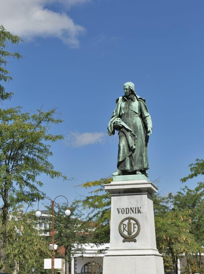 Monument de Vodnik à Ljubljana, Slovénie photos libres de droits