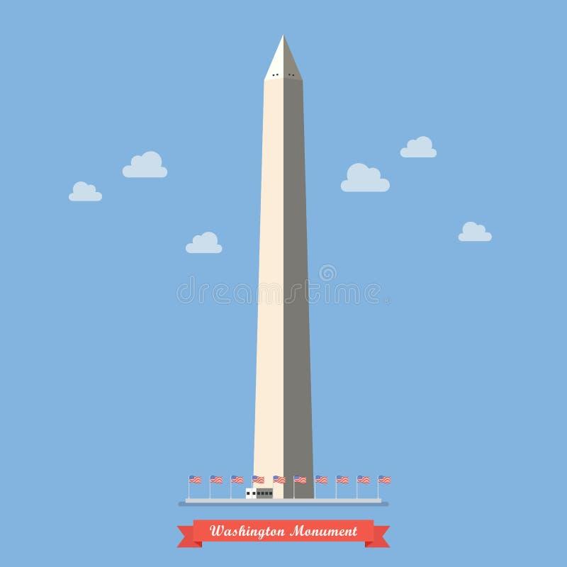 Monument de Washington dans le style plat illustration libre de droits