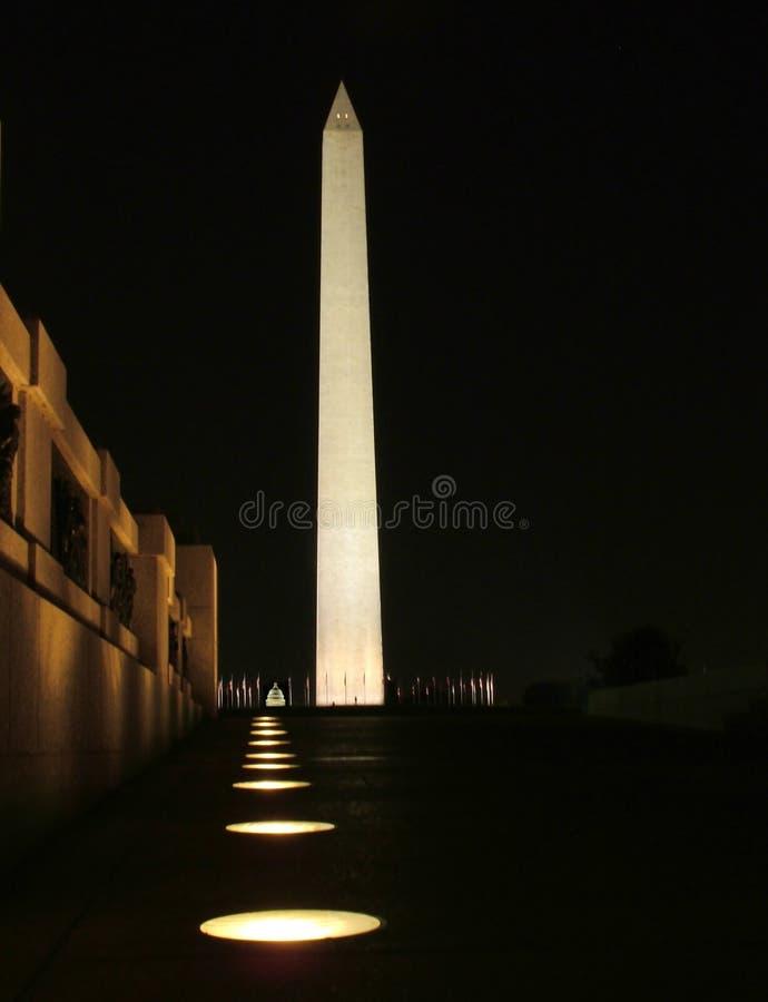 Monument de Washington la nuit images stock