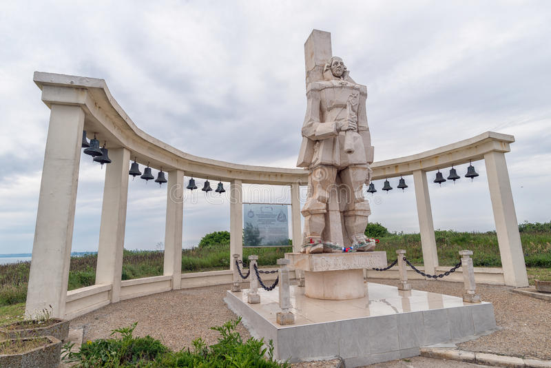 Monument dedicated to Russian Admiral F.F. Ushakov on Cape Kaliakra royalty free stock photos