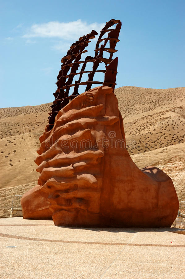 Monument dedicated to sedimentary rock, Israel stock photography