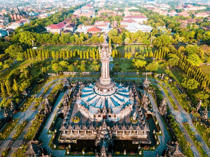 Monument denpasar för Aearial siktsrenon arkivfoto