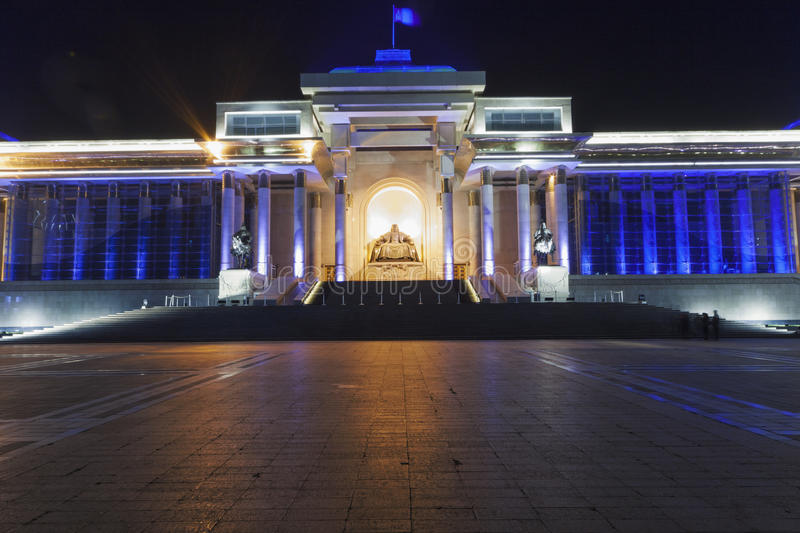Monument, depicting a seated Genghis Khan royalty free stock photo