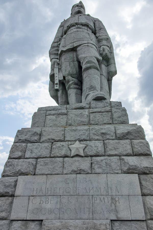 Monument der sowjetischen Armee bekannt als Alyosha in der Stadt von Plowdiw, Bulgarien stockfoto