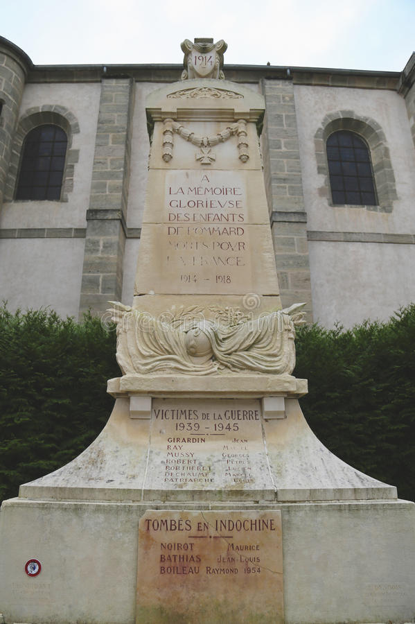 Monument des Ersten Weltkrieges in Pommard, Frankreich stockfoto