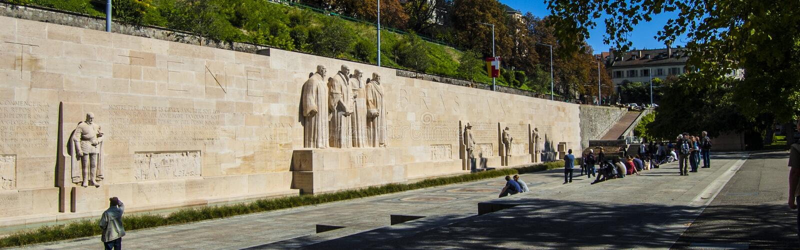 Monument des Kalvinismus lizenzfreies stockfoto