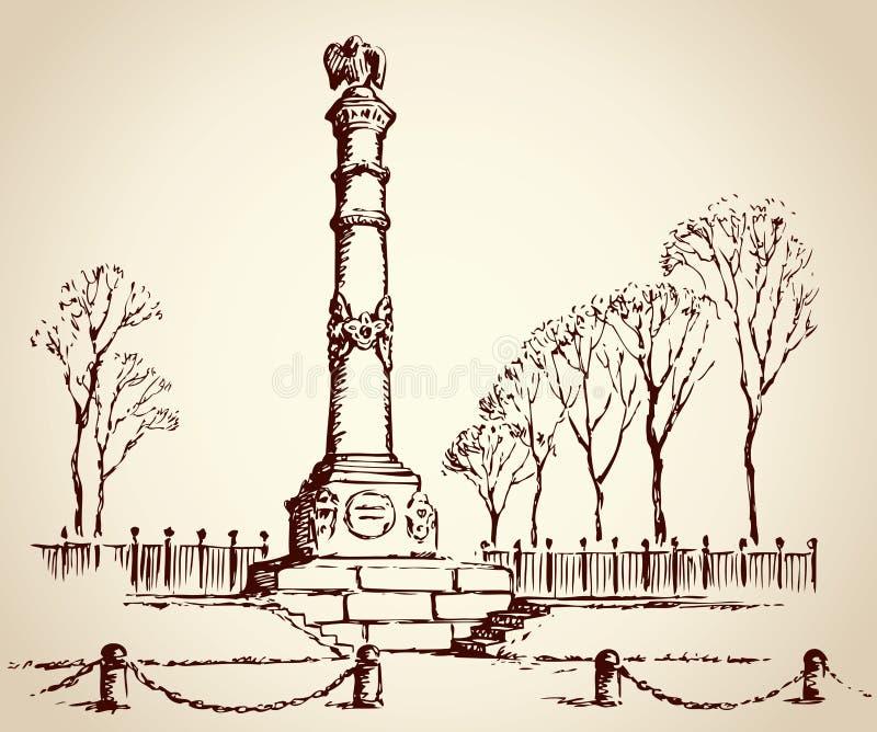 Monument des Ruhmes in Poltava, Ukraine ENV 10 stock abbildung