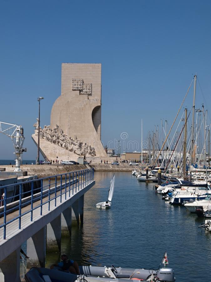 Monument of discovery with Belem Marina in Lisbon - Portugal stock photos