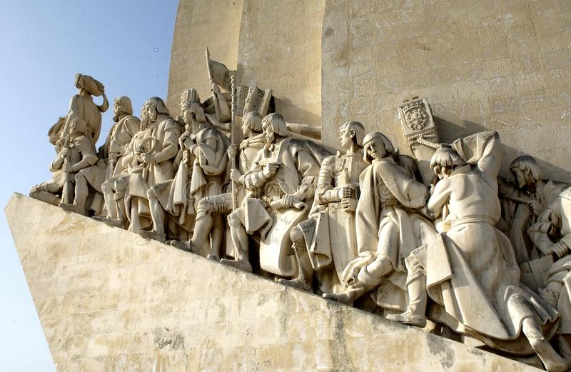 Monument of discovery in Belen, Lisbon - Portugal royalty free stock photos