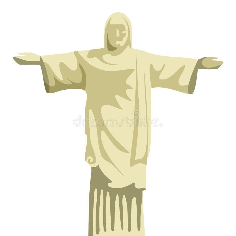Monument du Brésil de rédempteur du Christ illustration stock
