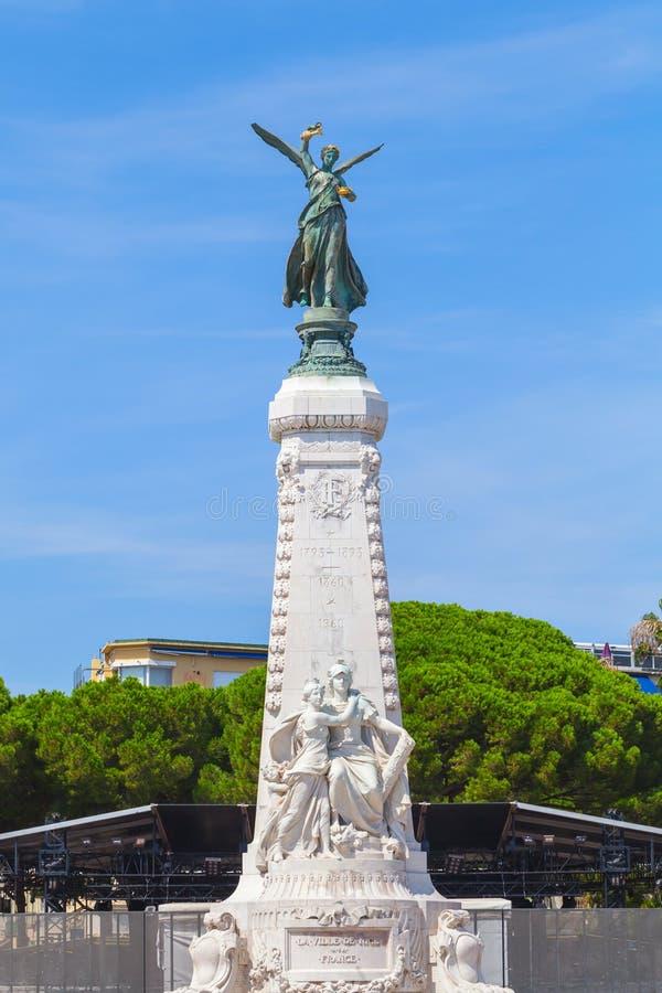 Monument du Centenaire en Niza, Francia imagen de archivo libre de regalías
