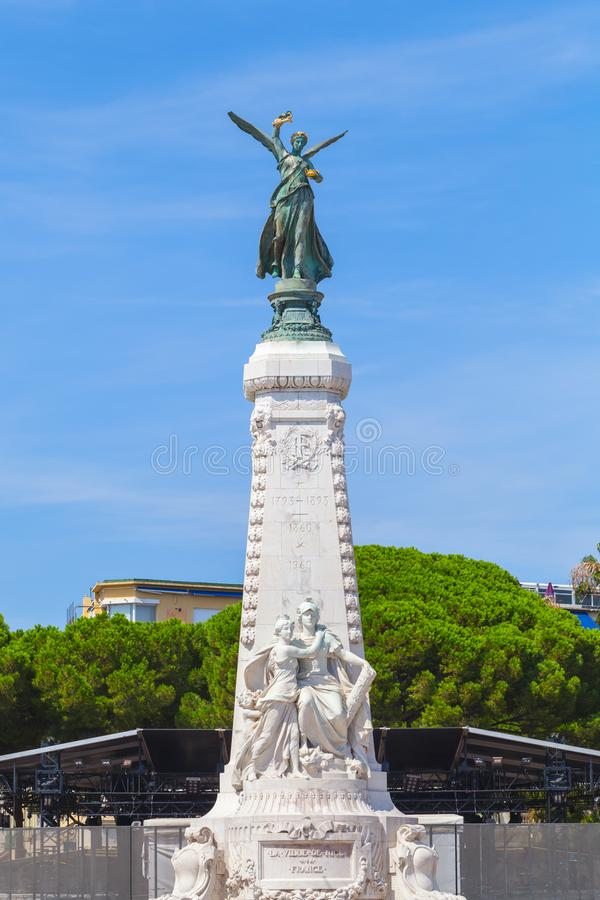 Monument du Centenaire in Nizza, Francia immagine stock libera da diritti