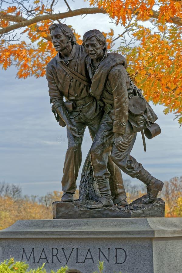 Monument du Maryland à Gettysburg photo stock