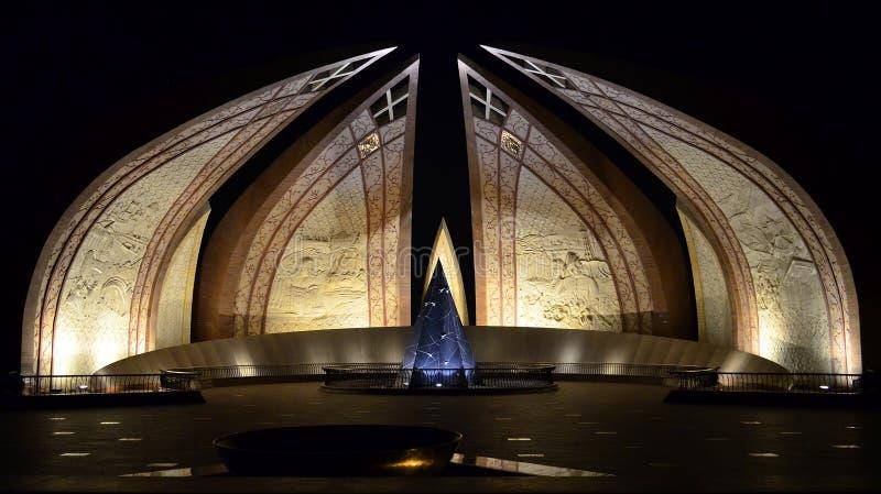 Monument du Pakistan la nuit ! images stock