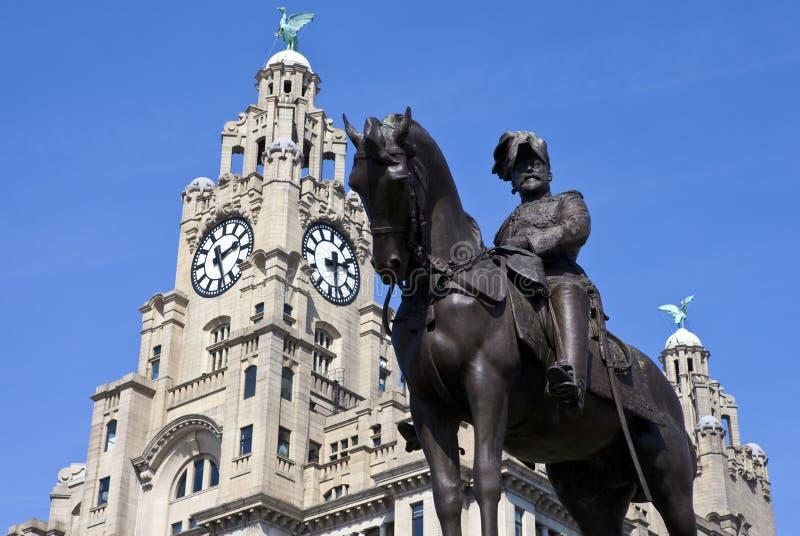 Monument du Roi Edouard VII à Liverpool photo libre de droits