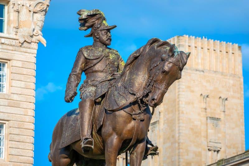 Monument du Roi Edward VII par Merseyside à Liverpool, R-U photo libre de droits