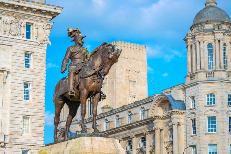 Monument du Roi Edward VII par Merseyside à Liverpool, R-U image libre de droits