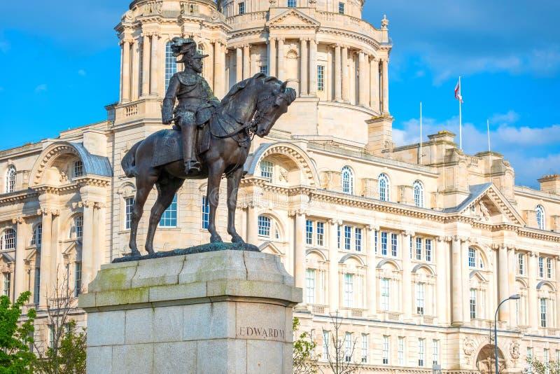 Monument du Roi Edward VII par Merseyside à Liverpool, R-U photo stock
