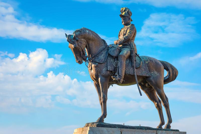 Monument du Roi Edward VII par Merseyside à Liverpool, R-U photos stock