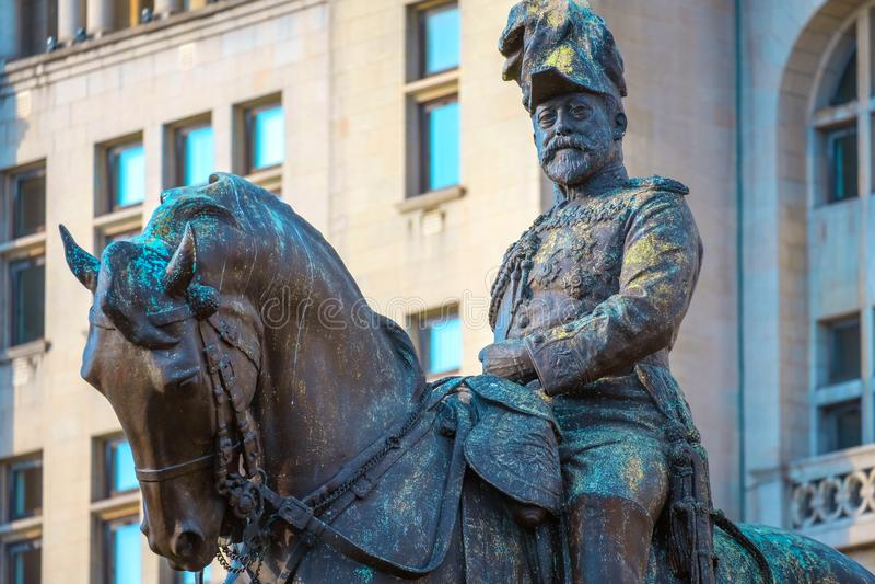 Monument du Roi Edward VII par Merseyside à Liverpool, R-U images stock