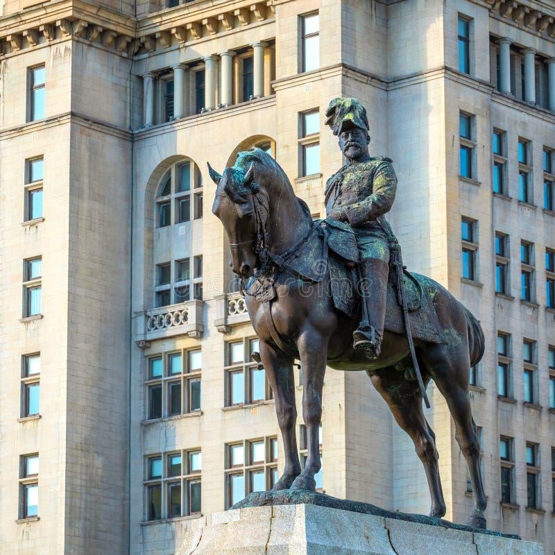 Monument du Roi Edward VII par Merseyside à Liverpool, R-U images libres de droits