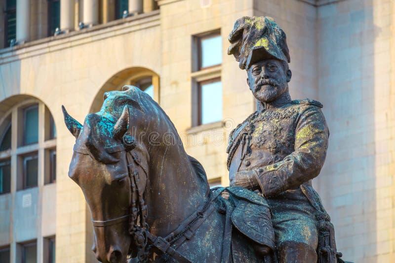 Monument du Roi Edward VII par Merseyside à Liverpool, R-U photographie stock libre de droits