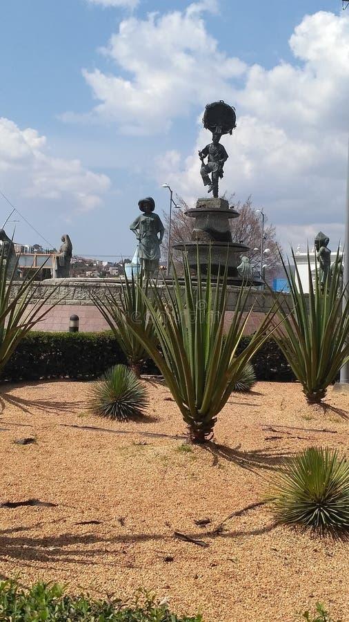 Monument einer 8 Region Oaxaca lizenzfreie stockfotografie
