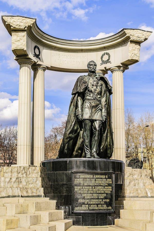 Monument en bronze à l'empereur russe Alexandre le deuxième - le libérateur photos stock
