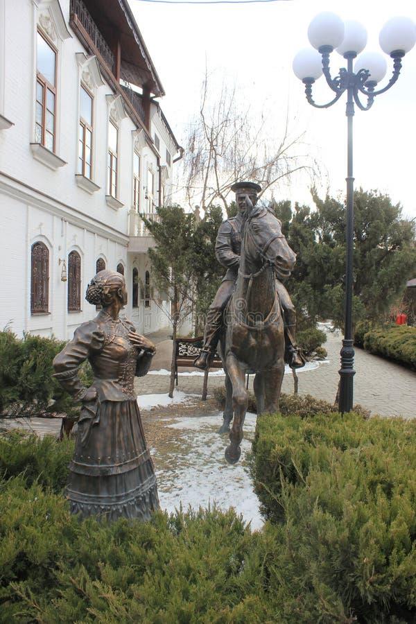 Monument en bronze aux Cosaques et au Cosaque à cheval photo libre de droits
