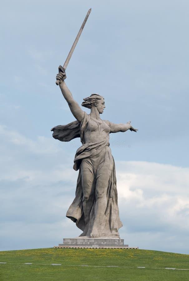 Monument en pierre les appels de la patrie images stock