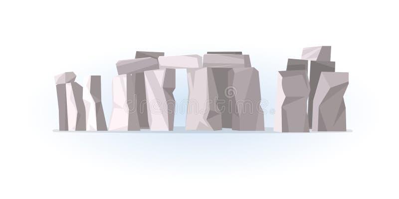 Monument en pierre préhistorique de Stonehenge illustration de vecteur