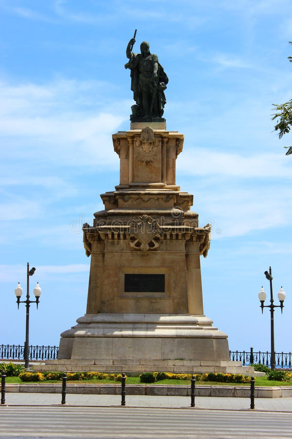 Monument en Roger de Llúria royaltyfri bild