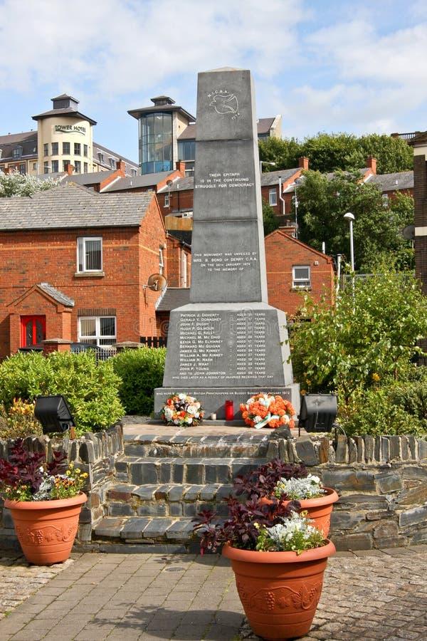 Monument ensanglanté de dimanche, Derry, Irlande du Nord image libre de droits