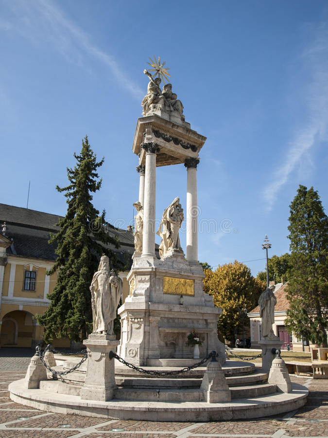 A monument in Esztergom stock photos