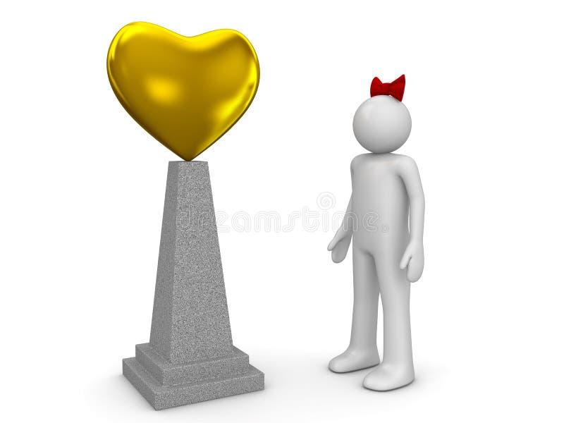 Monument et femme d'amour image libre de droits