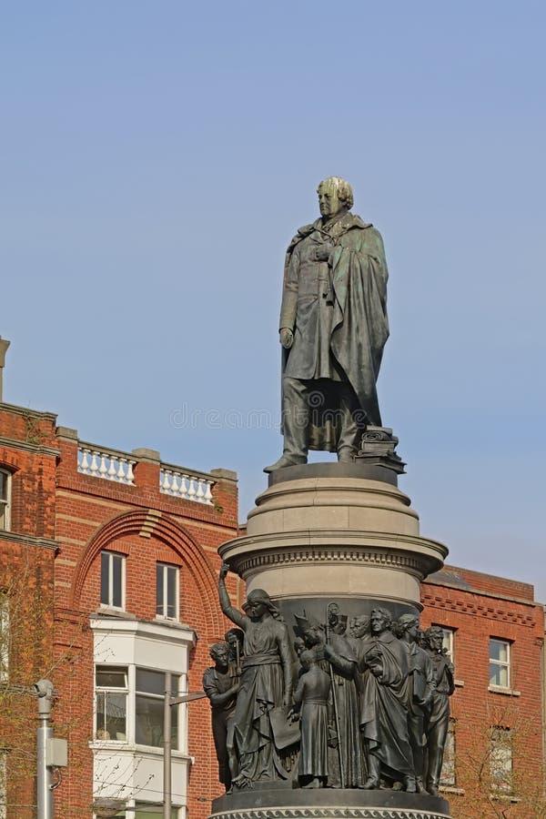 Monument för Daniel nolla-'connel i Dublin fotografering för bildbyråer