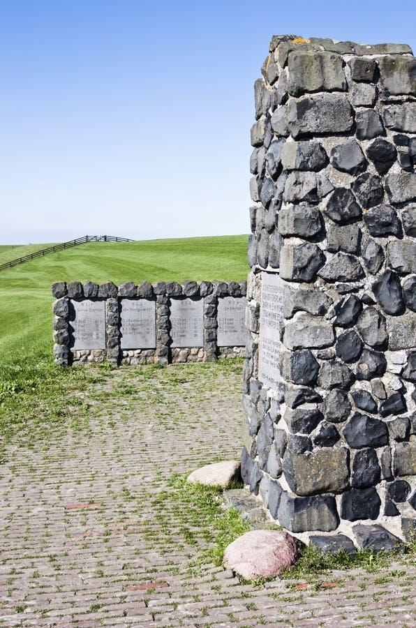 Monument för den Moddergat katastrofen, Holland royaltyfria bilder