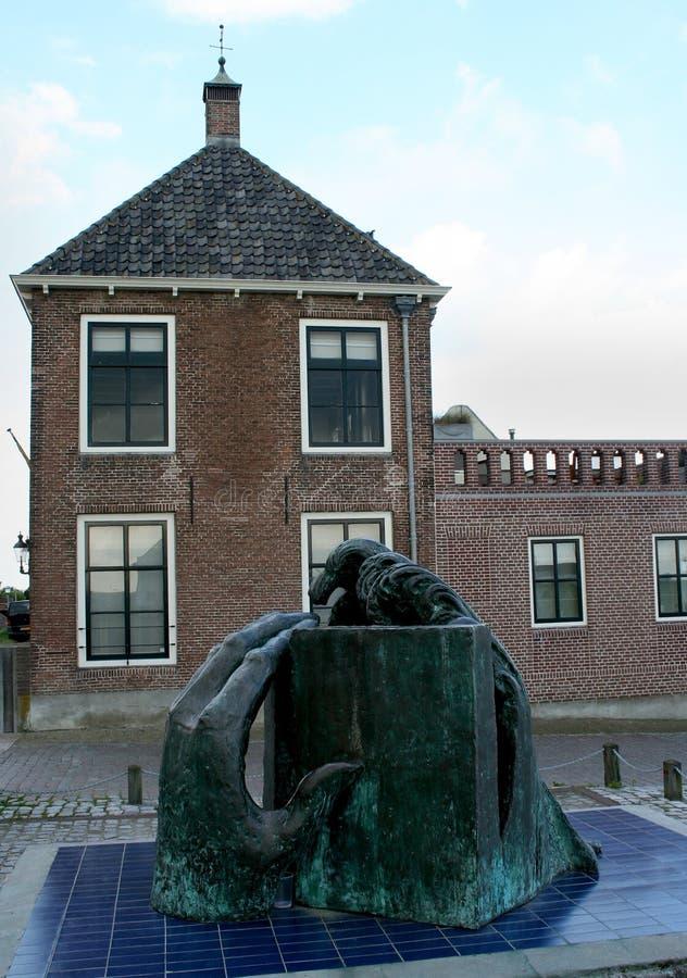 Monument för floden royaltyfri bild